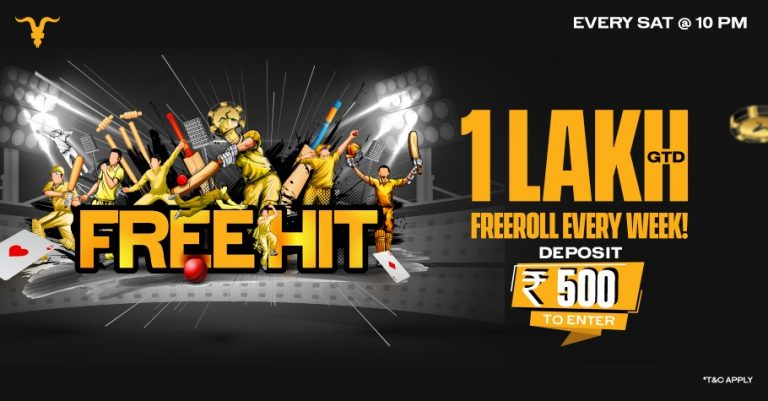 Freehit-Freeroll Worth INR 1 Lakh On BlitzPoker Every Saturday