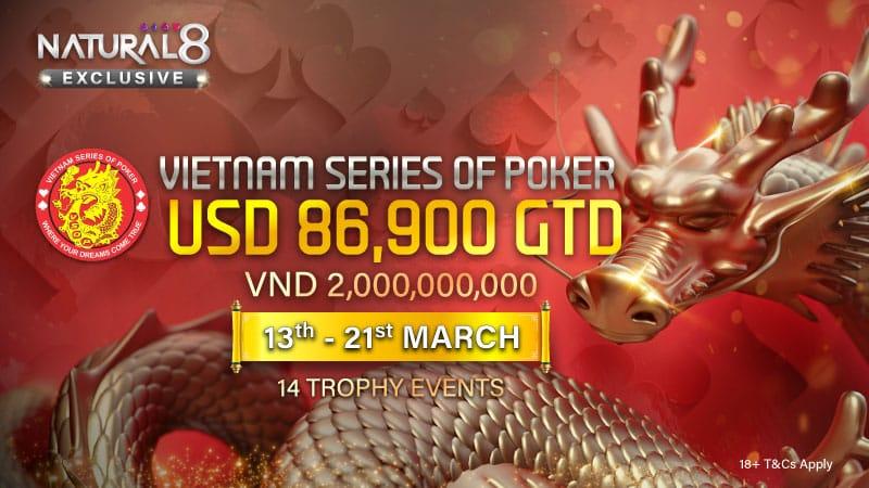 Seri Poker Vietnam (VSOP) Diluncurkan di Natural 8!