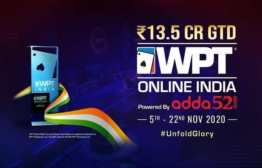WPT India 2020 Hits Online Poker Tables